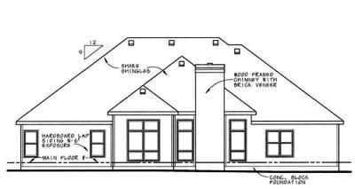 Rear Elevation Plan: 10-624