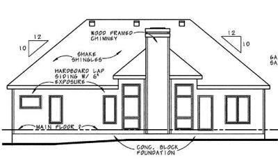 Rear Elevation Plan: 10-625