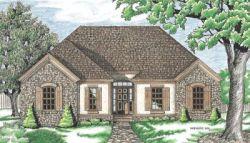 European Style Home Design Plan: 10-625