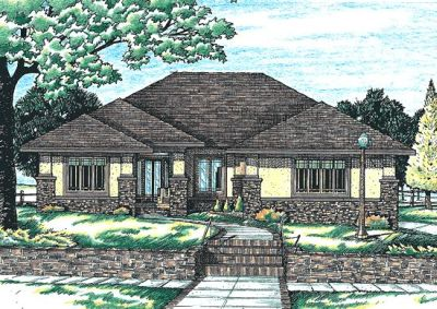 Prairie Style House Plans Plan: 10-627