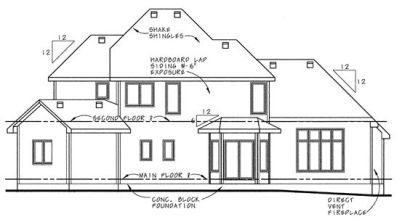Rear Elevation Plan: 10-628