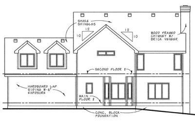 Rear Elevations Plan:10-629