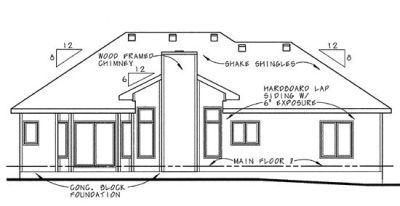 Rear Elevation Plan: 10-631