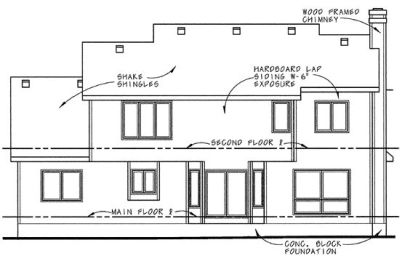 Rear Elevation Plan: 10-632