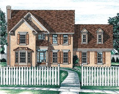 Colonial Style Floor Plans Plan: 10-635