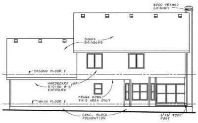 Rear Elevation Plan: 10-635