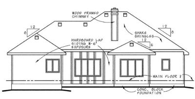 Rear Elevation Plan: 10-636