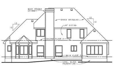 Rear Elevations Plan:10-637