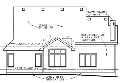 Rear Elevation Plan: 10-638