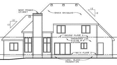Rear Elevation Plan: 10-639