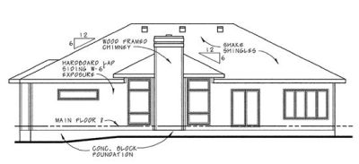 Rear Elevation Plan: 10-640