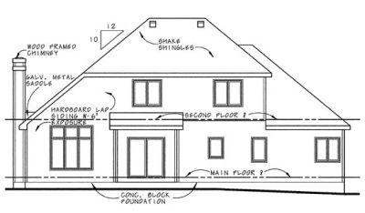 Rear Elevation Plan: 10-641