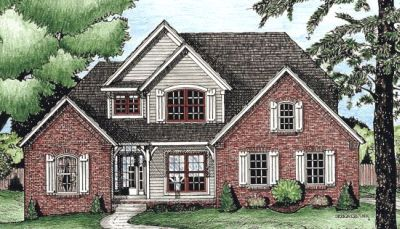 Traditional Style Home Design Plan: 10-645