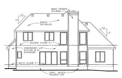 Rear Elevation Plan: 10-645