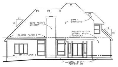 Rear Elevation Plan: 10-646