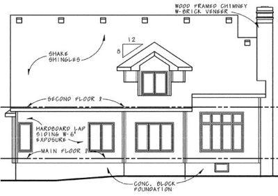 Rear Elevation Plan: 10-647