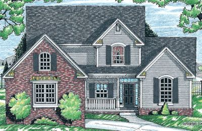 Traditional Style Home Design Plan: 10-648