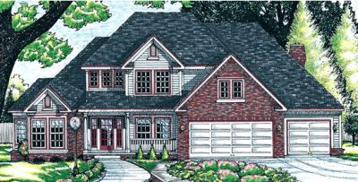 Traditional Style Home Design Plan: 10-649