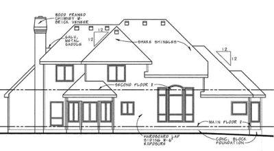 Rear Elevation Plan: 10-649
