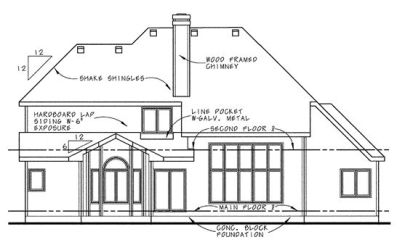 Rear Elevation Plan: 10-650