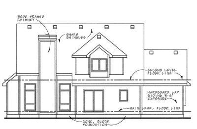 Rear Elevation Plan: 10-651