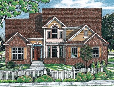 Traditional Style Home Design Plan: 10-652