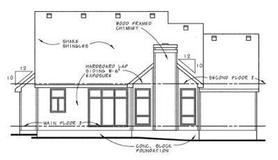 Rear Elevation Plan: 10-652
