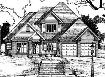 Traditional Style Home Design Plan: 10-653