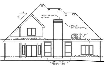 Rear Elevations Plan:10-653