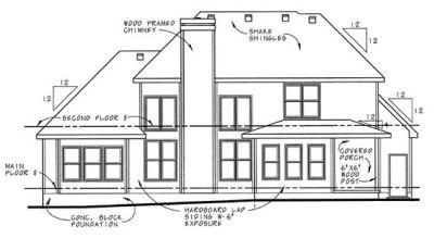 Rear Elevation Plan: 10-656