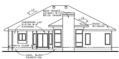 Rear Elevation Plan: 10-657