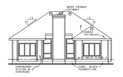 Rear Elevation Plan: 10-658