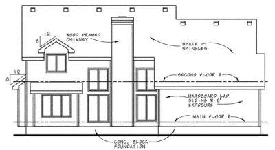 Rear Elevation Plan: 10-662