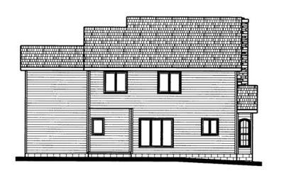 Rear Elevation Plan: 10-665