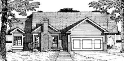 Traditional Style Home Design Plan: 10-666