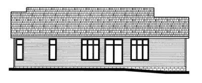 Rear Elevation Plan: 10-666