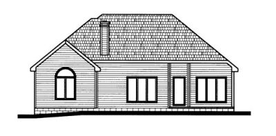 Rear Elevation Plan: 10-668