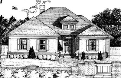 Traditional Style Home Design Plan: 10-669