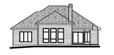 Rear Elevation Plan: 10-669