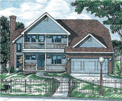 Southern Style House Plans Plan: 10-671