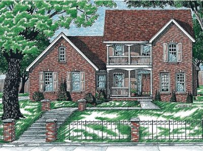 Southern-colonial Style House Plans Plan: 10-672