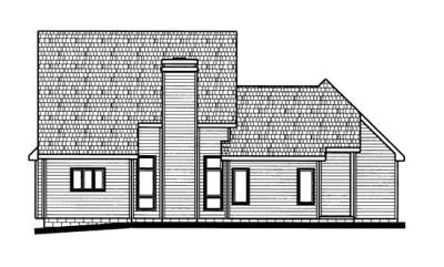 Rear Elevation Plan: 10-672