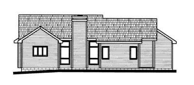 Rear Elevation Plan: 10-673