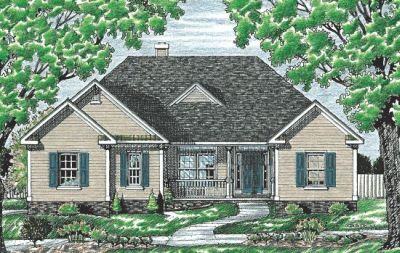 Traditional Style Home Design Plan: 10-675