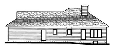 Rear Elevation Plan: 10-676