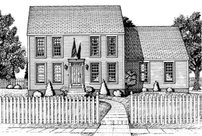 Early-american Style Home Design Plan: 10-677