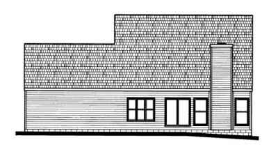 Rear Elevation Plan: 10-677