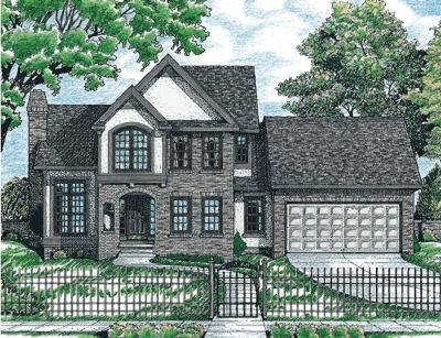 European Style House Plans Plan: 10-678