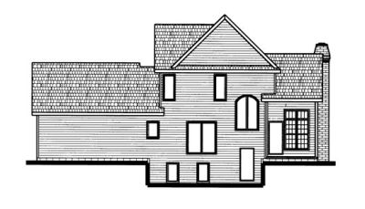 Rear Elevation Plan: 10-678