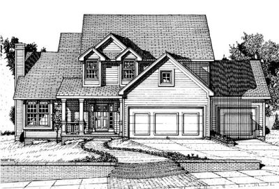 Traditional Style Home Design Plan: 10-681